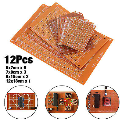 12X PCB Stripboard  Type Universal Copper Printed Circuit Board Prototype