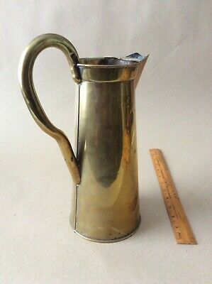 Antique Brass Hot Water Jug.* Nestor Birmingham* C 1900.