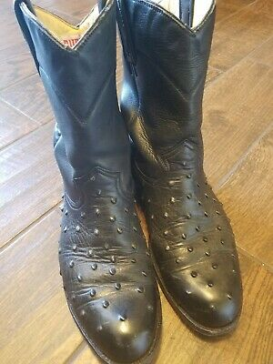 86a0ccde33a RUDEL COWBOY BOOTS Black Leather Mens Size 6.5 D Country Western ...