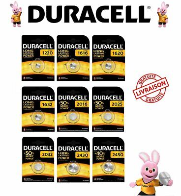 Pile Duracell CR 1220 1616 1620 2016 2025 2032 2430 2450 piles bouton 3V Lithium
