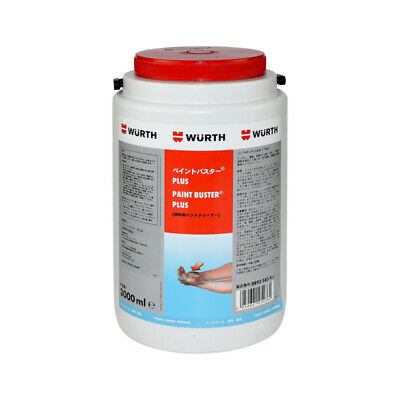 Genuine Wurth Hand Cleaner, Paint Remover 3L Skin Friendly Solvent Free