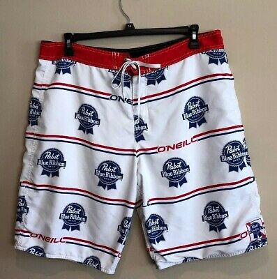 7f827f3b5a PABST BLUE RIBBON X Oneill Board Shorts Size 36 Perfect For Summer ...