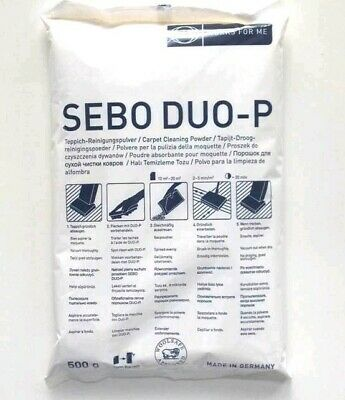4x SEBO DUO-P Carpet Cleaning Powder 500g Refill, DUOP Clean Box Refills DUO P