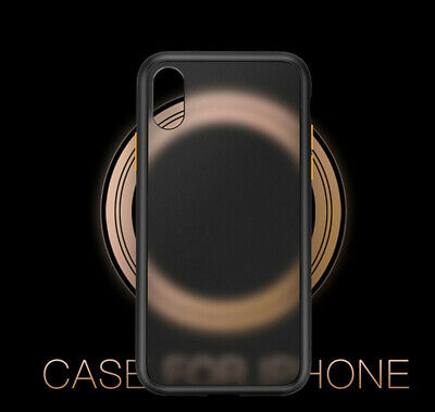 For iPhone XS Max XR X 8 7 Luxury Matte Frosted Hard Back Case Cover Bumper Soft