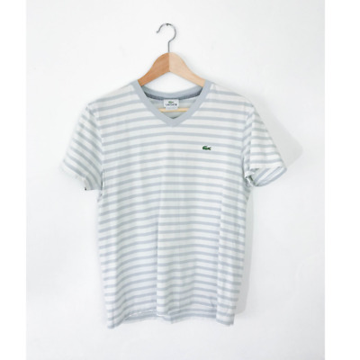 XS SALE LACOSTE DEVANLAY NWD WOMENS BLUE 100/% COTTON TEE SHIRT SIZE