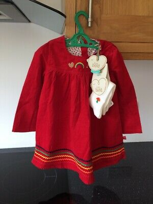 71273d514 BNWT Little bird By Jools Oliver girls Red Cord Dress And Tights Set 2-3