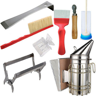 8pcs Beekeeping Supplies Tools Bee Smoker With Plunger Spur Wire Wheel Embedder