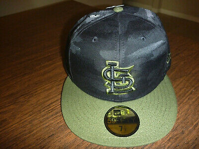 info for e5f60 3902f St. Louis Cardinals New Era 59Fifty 2018 Memorial Day On Field Black Hat 7 1