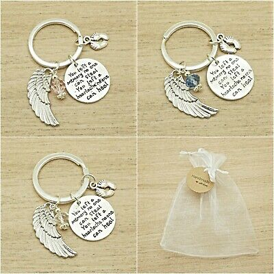 Baby Loss. You Left A Memory. Keyring. Memorial.miscarriage. Angel Baby