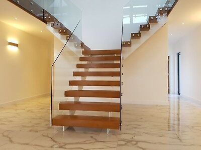 Steel, Oak And Glass Staircase. Bespoke contemporary, bespoke staircases.