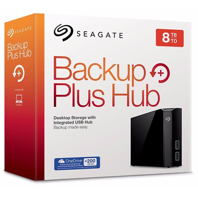 Hard Disk Esterno 3,5 Usb 3.0 8000Gb 8Tb Seagate Backup Plus Hub Stel8000200