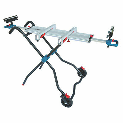Erbauer Mitre Saw Stand 200kg Max Aluminium Extension Rollers Folding Legs