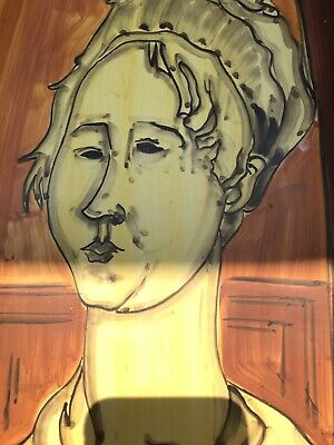 Amedeo Modigliani Painting On Pottery By Nove P.T. Italy - Scarce