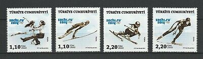 Turkey 2014 Winter Olympic Games - Sochi 4 MNH stamps