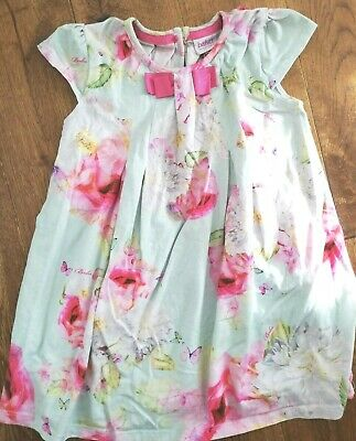 GIRLS TED BAKER BEAUTIFUL flower summer PARTY DRESS  AGE 3 - 4 YEARS floral