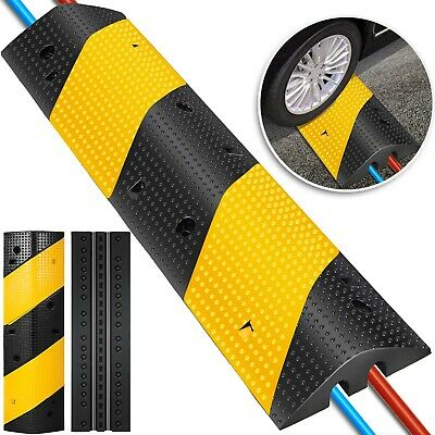 2 Channel Rubber Speed Bumps Electric Traffic Control Speed Hump Sturdy HOT