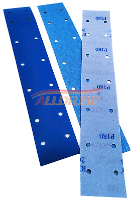 Sanding Strips 70 x 420mm Wet and Dry Sandpaper Hook and Loop Abrasive 14 Hole