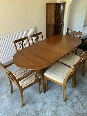 Antique Extendable Table and Chairs.