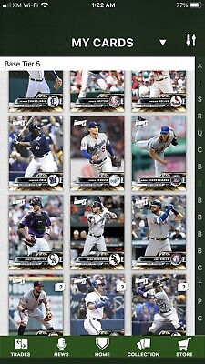 2019 Topps Bunt Complete Gold Base Set Of 300 Trout Yelich Acuna Bellinger