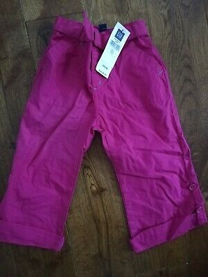 Baby Gap Girls shorts summer 3/4 length Trousers Age 2 - 3 years BNWT pink £19.5