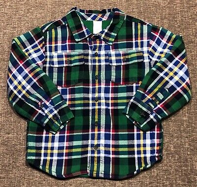 Gymboree Size 4T NORTH POLE EXPRESS Toddler Boys Plaid Shirt Winter GUC Holiday