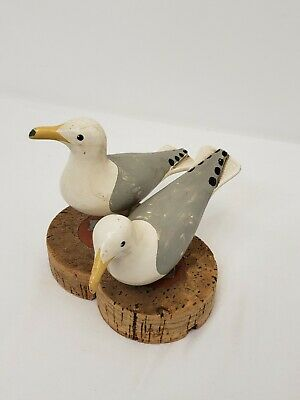 Nautical Book Ends Seagulls Cork Metal Figurine Statue Bird Ocean Sea Vintage