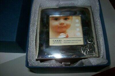 Carrs Of London Solid Silver Babys Christening Box + Teddy Bear Silver Bangle