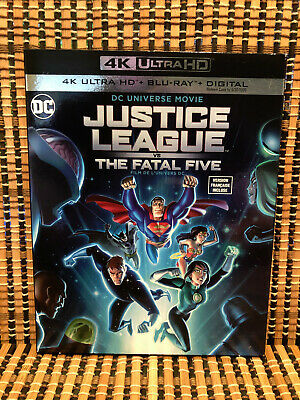 Justice League vs The Fatal Five 4K (1-Disc Blu-ray, 2019)+Slipcover.DC/Batman