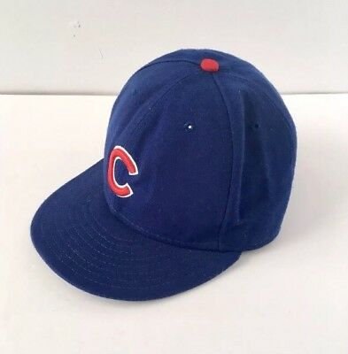 new concept 3b10b fcf86 New Era Chicago Cubs Baseball MLB 59Fifty Fitted Blue Logo Hat Cap 7 1 2
