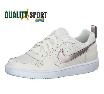 buy popular 2bfc6 8785d Nike Court Borough Low Creme Bronze Chaussures Baskets Femme 845104 007