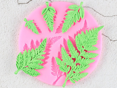 Mimosa Leaves leave forest Autumn Silicone Mold Mould for cake Icing  M163