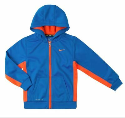51bbd5895a NWT Nike Therma-FIT KO Hoodie Boys Size 4 Full Zip Photo Blue 861203 Retails
