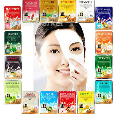 Facial Mask Sheet Pack Face Skin Care Collagen Moisture Essence Hydrating Korean