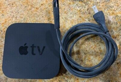 Apple TV (3rd Generation) 8GB HD Media Streamer  A1469 Apple TV and a Power cord