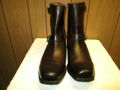 6bf8e53ed5 Frye Smith Engineer Mens Brown Leather Casual Dress Zipper Boots Shoes 11.5  M