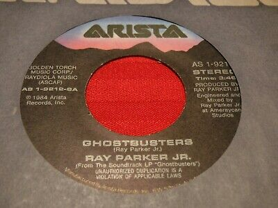 """Ray Parker Jr. Ghostbusters 7"""" 45 RPM 1984 Arista AS 1-9212 Who You Gonna Call"""