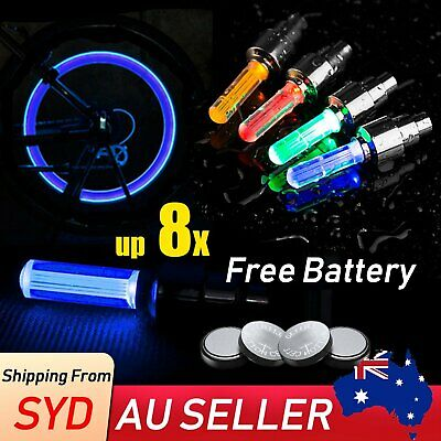 Flashing Neon LED Wheel Valve Cap Tyre Tire Light Bike Bicycle Super Bright Lamp