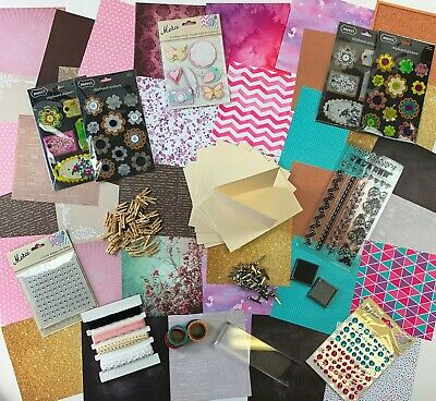 BULK 15 Packets Card Making Items Stamps Cards Papers Stickers Embellishments +