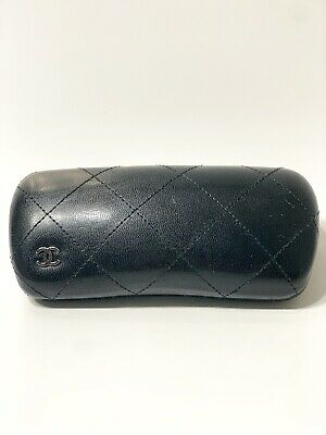 0259cf66c76c CHANEL BLACK Hard Case Square Makeup Cosmetic Travel Bag- Free Ship ...