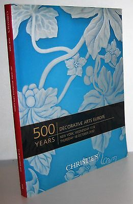 Christie's 500 Years Decorative Arts Europe NY October 17 & 18, 2012, furniture