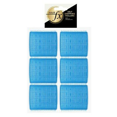 Hair FX Self Gripping 53mm Blue Velcro Rollers, 6 pack - Hair Salon Quality