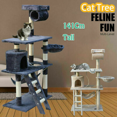 1.4M Cat Tree Trees Scratching Post Scratcher Tower Condo House Furniture Wood