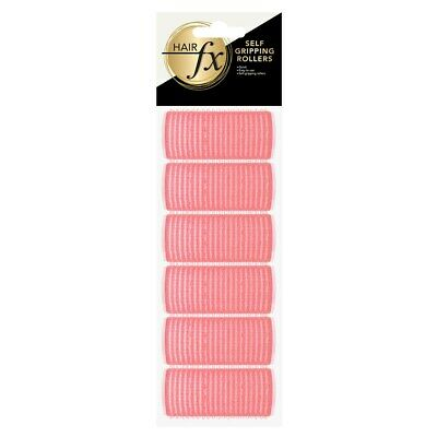 Hair FX Self Gripping 25mm Pink Velcro Rollers, 6pk - Hair Salon Quality