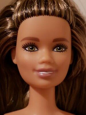 NEW 2018 Barbie Fashionistas Doll 97 Meow Mix~Petite NUDE DOLL ONLY