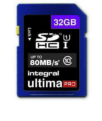 32GB SD Ultimapro SDHC SD Card Class 10 U1 UHS-I Memory Card 80MB/S For Camera