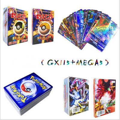 Hot 115 GX + 5 MEGA 120Pcs Pokemon Cards Booster Box English Edition Break Point