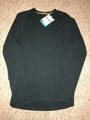 Clothing, Shoes & Accessories NWT SMARTWOOL MERINO 250 CHARCOAL BASELAYER CREW LONG SLEEVE T SHIRT SIZE S-XL
