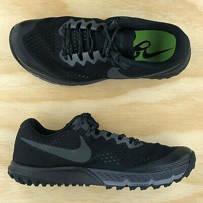 0b36e403af Nike Air Zoom Terra Kiger 4 Triple Black Cross Fit Training Shoes  880563-010 Sz