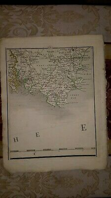 1794 - John Cary map genuine item map 3  Dartmouth torbay devon