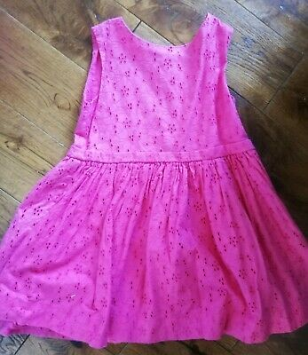 GIRLS JOULES BEAUTIFUL pink summer embroidery DRESS  AGE 3 - 4 YEARS  104cm